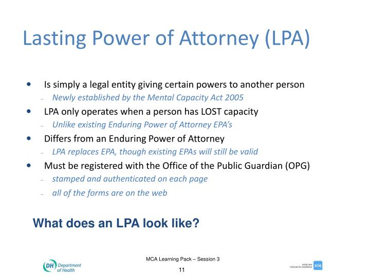 Lasting Power of Attorney (LPA)