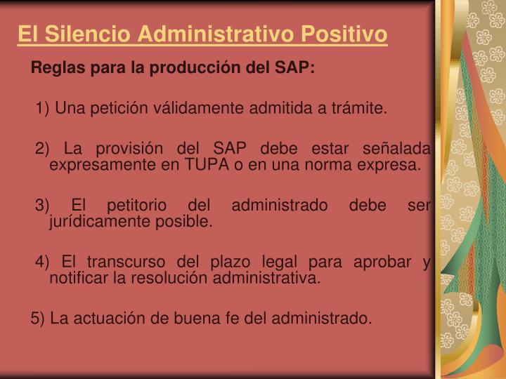 El Silencio Administrativo Positivo