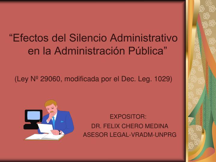 """""""Efectos del Silencio Administrativo en la Administración Pública"""""""