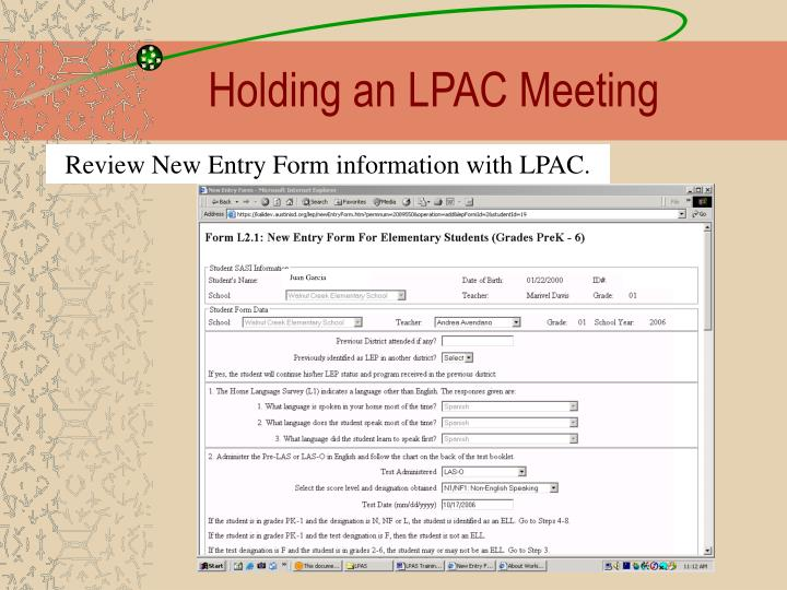Holding an LPAC Meeting