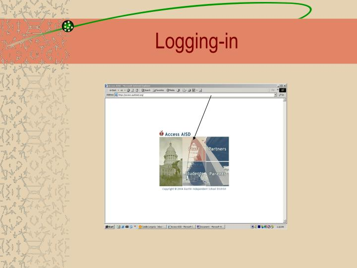 Logging-in