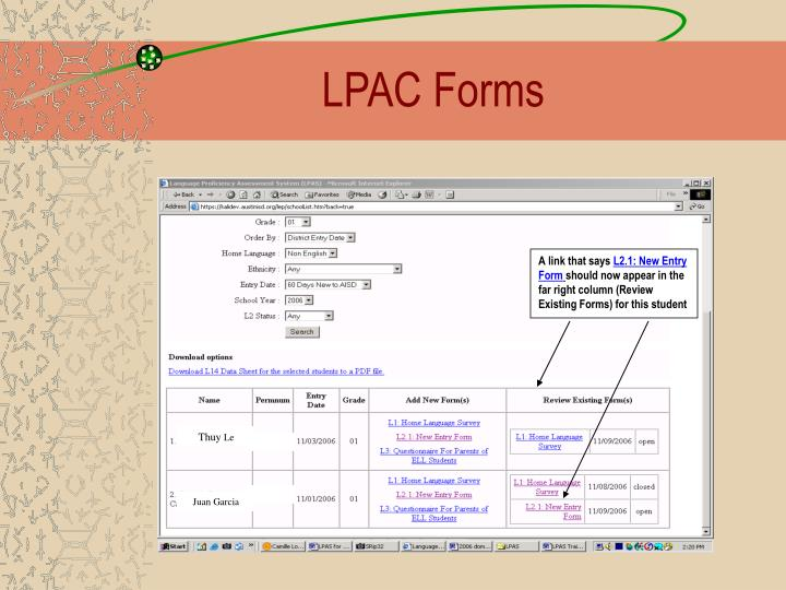 LPAC Forms