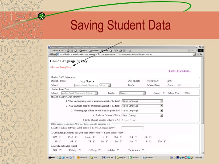 Saving Student Data