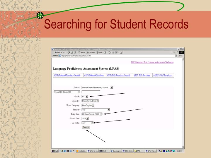 Searching for Student Records