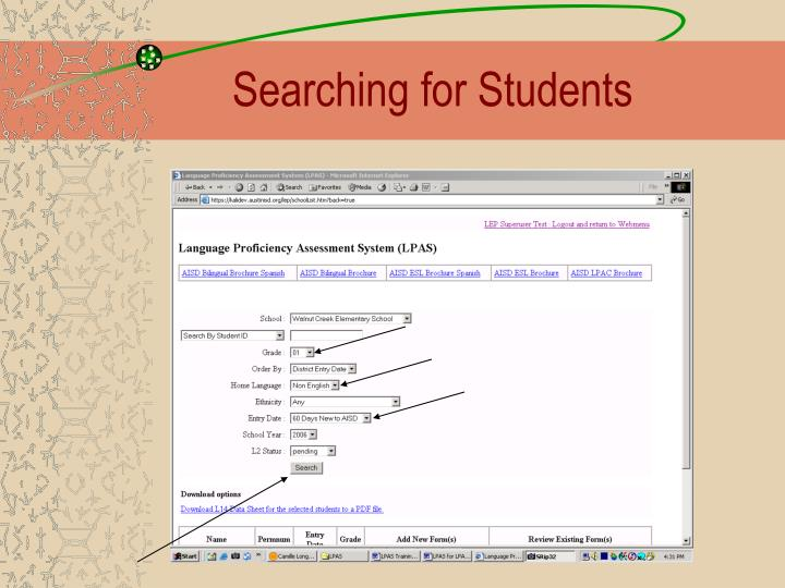 Searching for Students