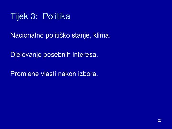 Tijek 3:  Politika