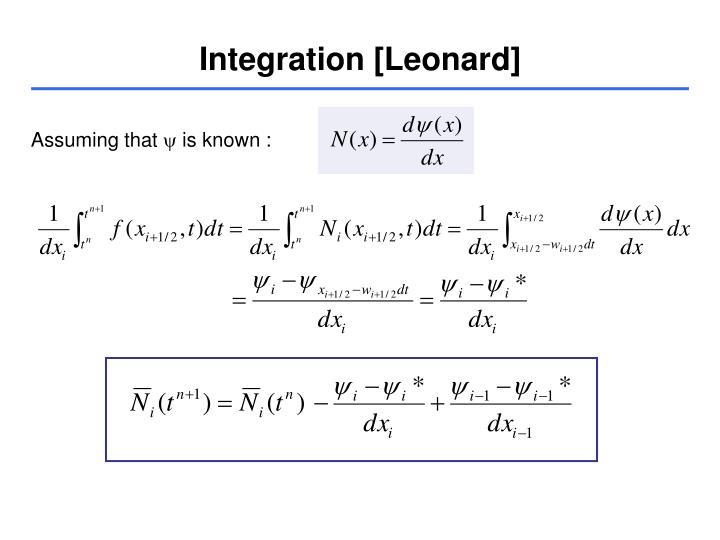 Integration [Leonard]