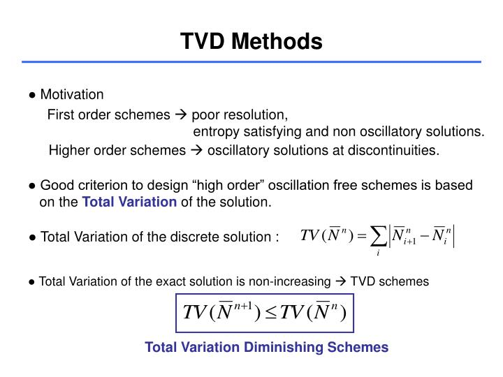 TVD Methods