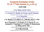 coulomb excitation of the k p 5 242m am isomer t 1 2 141 y