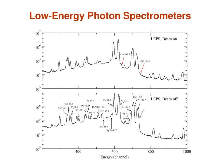 Low-Energy Photon Spectrometers