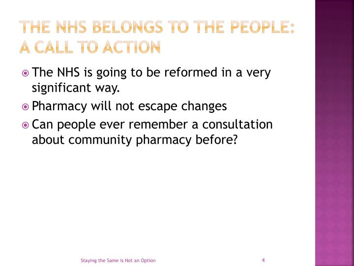 The NHS belongs to the people: