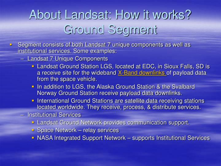 About Landsat: How it works?