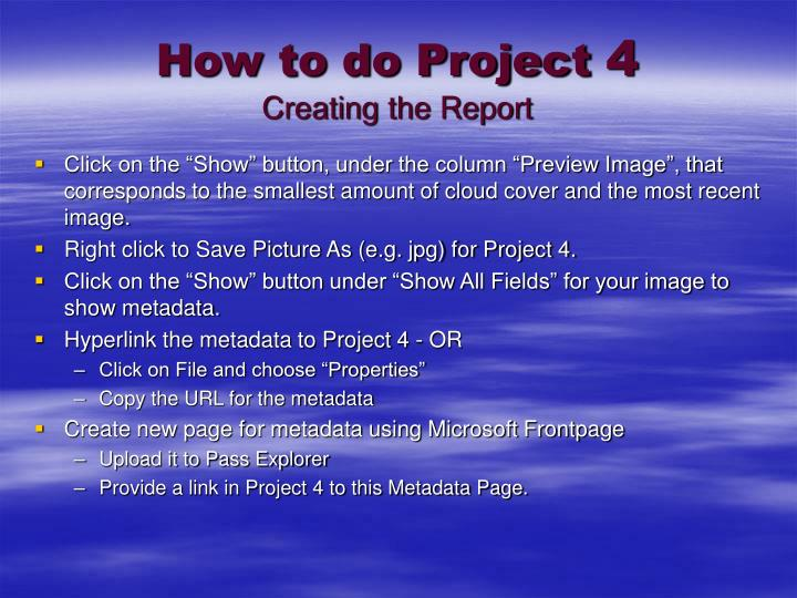 How to do Project