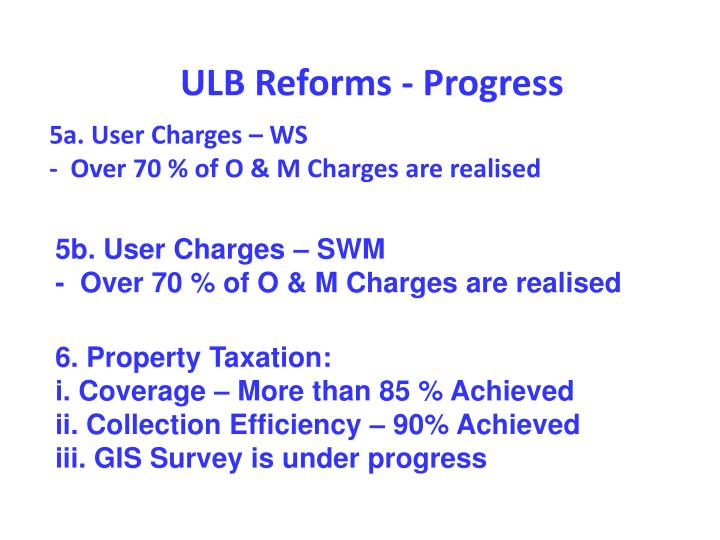 5a. User Charges – WS