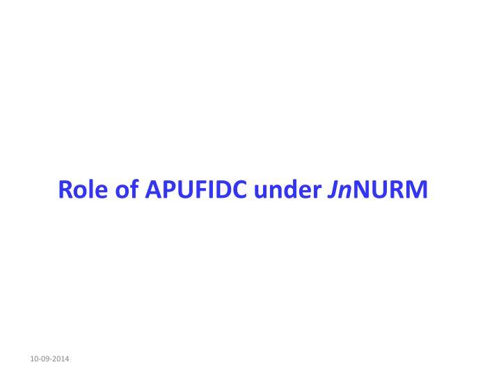 Role of APUFIDC under