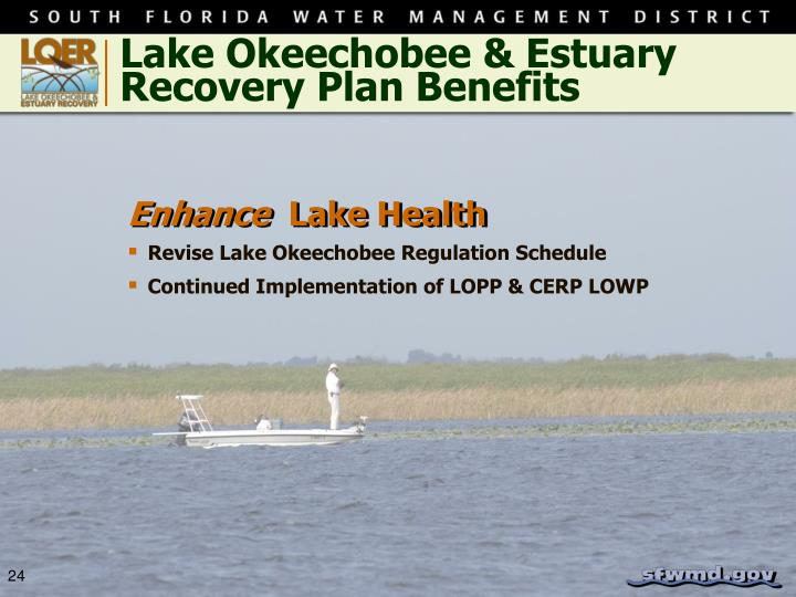 Lake Okeechobee & Estuary Recovery Plan Benefits