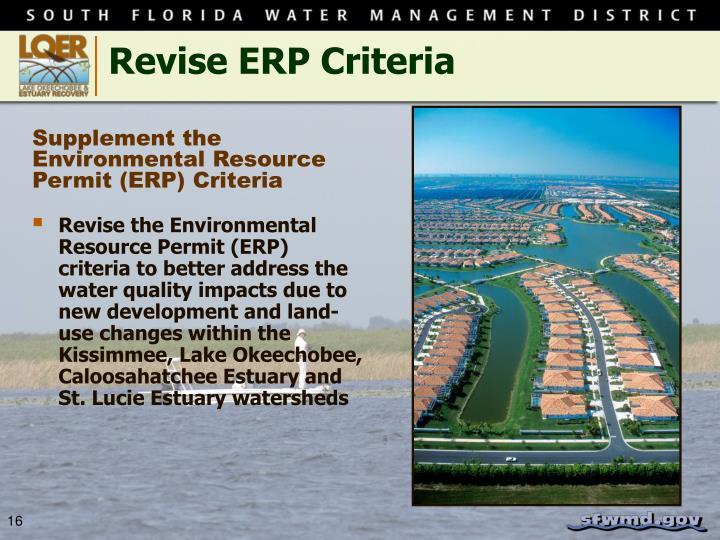 Revise ERP Criteria