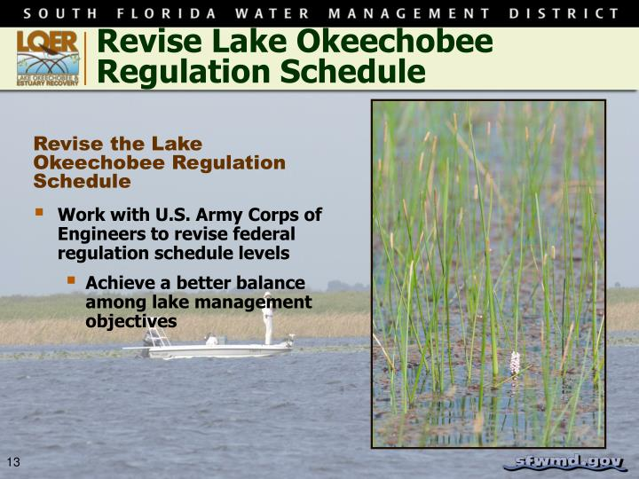 Revise Lake Okeechobee Regulation Schedule