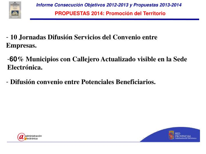 Informe Consecución Objetivos 2012-2013 y Propuestas 2013-2014