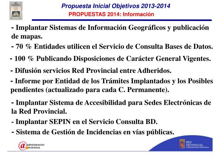 Propuesta Inicial Objetivos 2013-2014