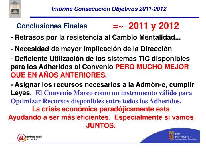 Informe Consecución Objetivos 2011-2012