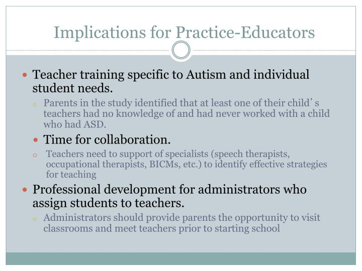 Implications for Practice-Educators