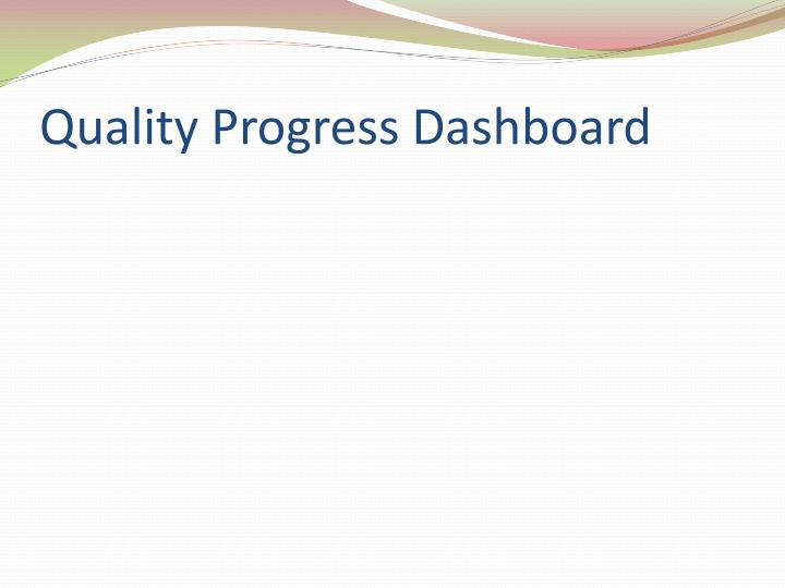 Quality Progress Dashboard