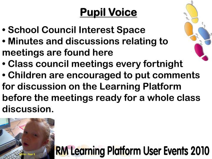 School Council Interest Space