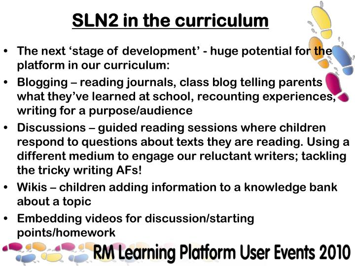 The next 'stage of development' - huge potential for the platform in our curriculum: