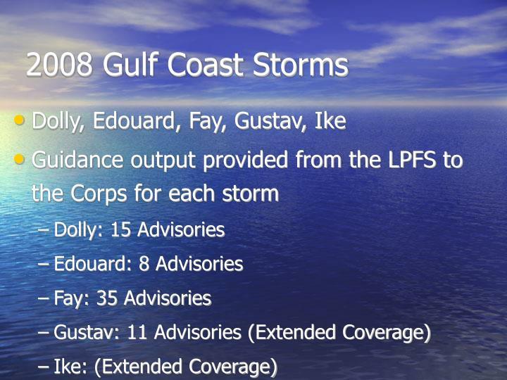 2008 Gulf Coast Storms