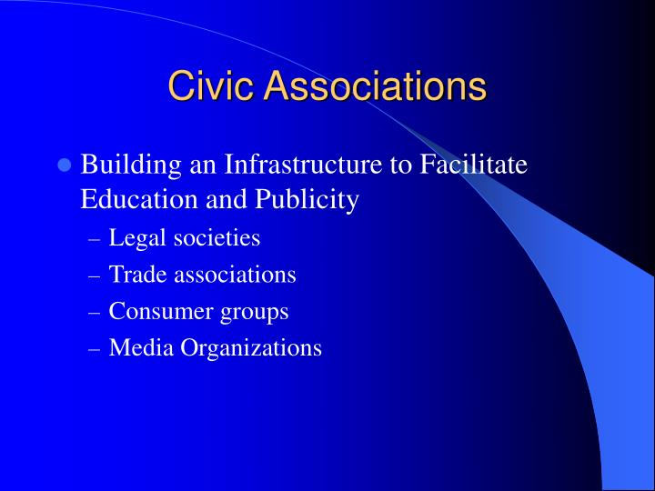 Civic Associations
