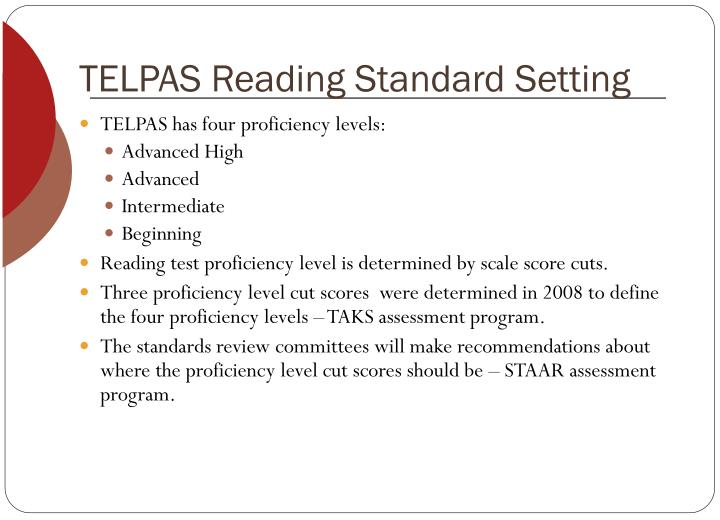 TELPAS Reading Standard Setting