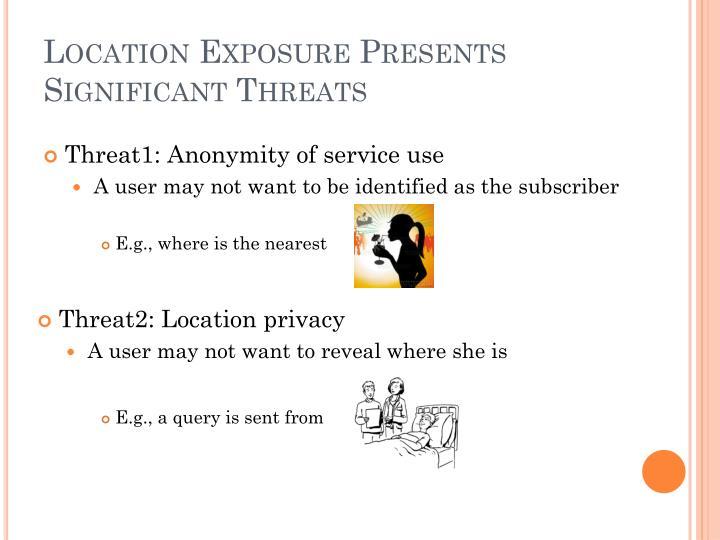 Location Exposure Presents Significant Threats