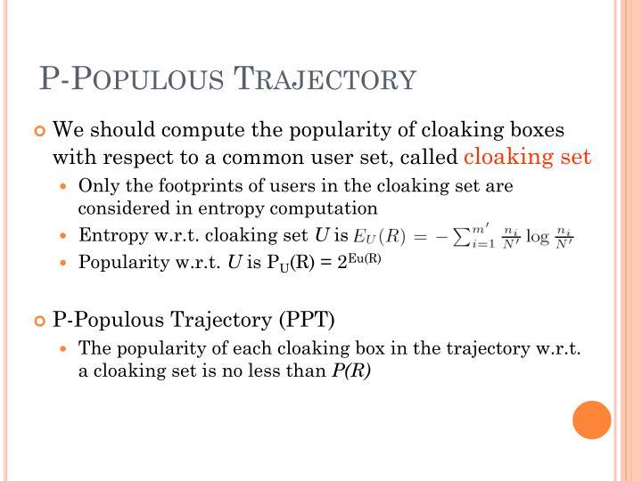 P-Populous Trajectory