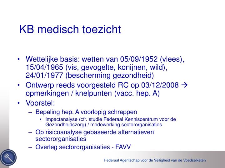 KB medisch toezicht