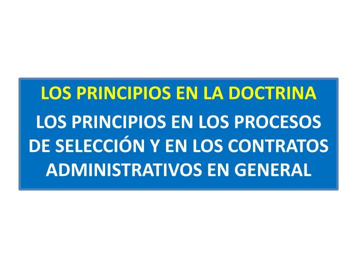 LOS PRINCIPIOS EN LA DOCTRINA