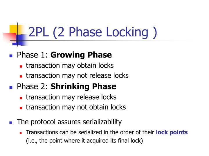 2PL (2 Phase Locking )