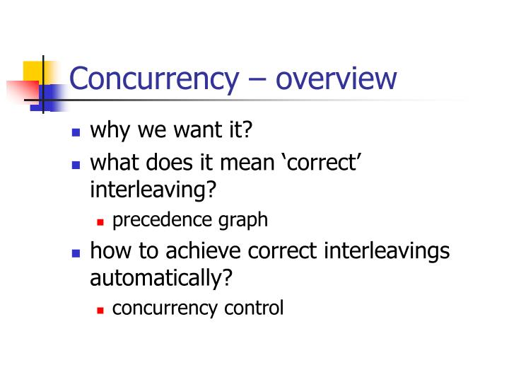 Concurrency – overview