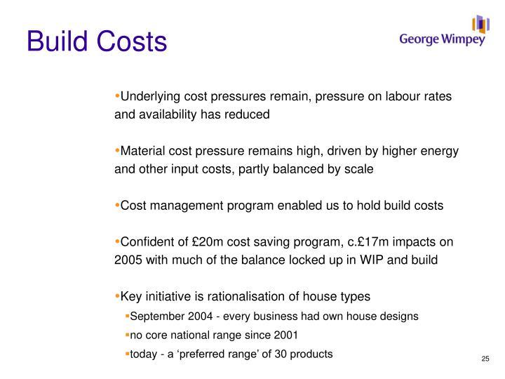 Build Costs
