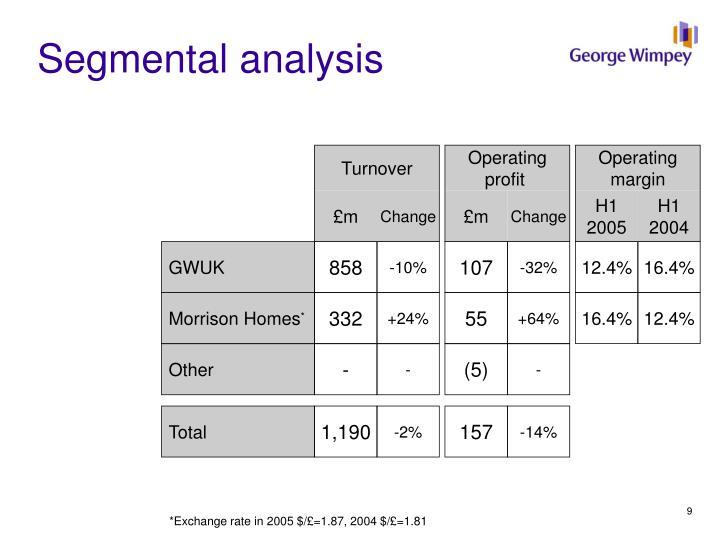Segmental analysis