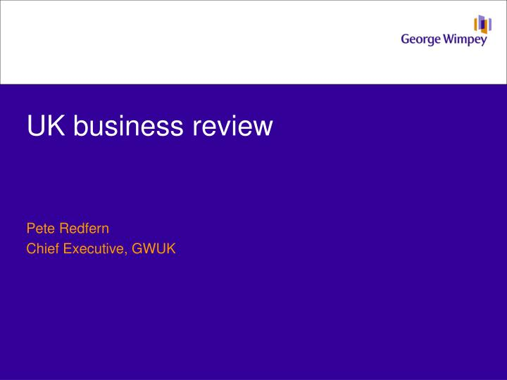 UK business review