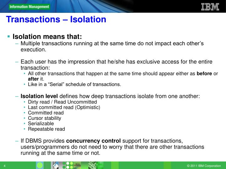 Transactions – Isolation