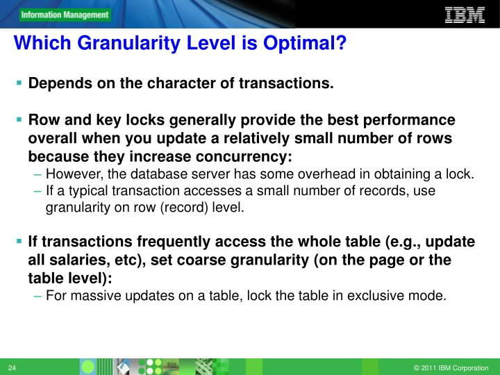 Which Granularity Level is Optimal?