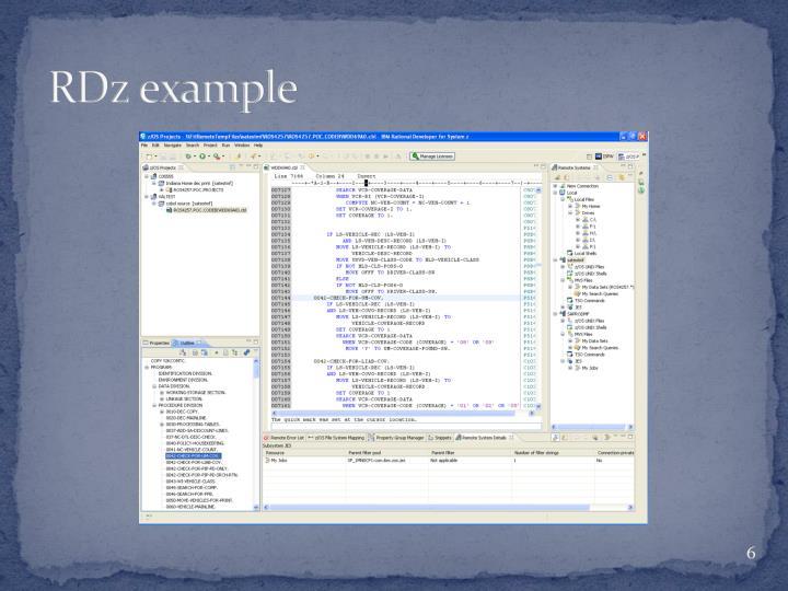 RDz example
