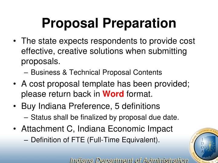 Proposal Preparation