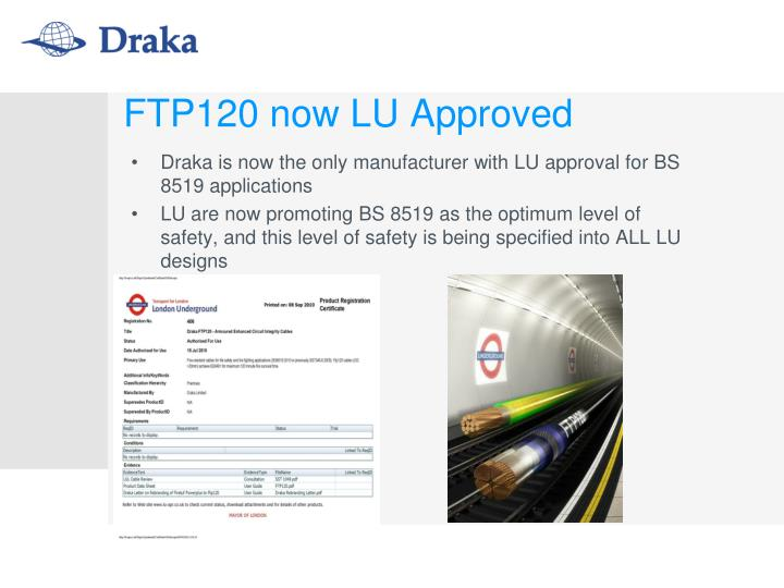 FTP120 now LU Approved