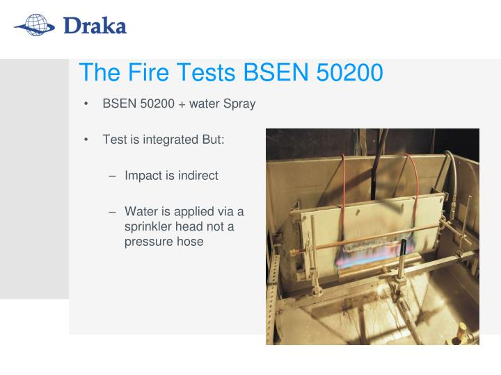 BSEN 50200 + water Spray