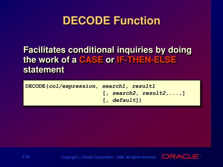 DECODE Function