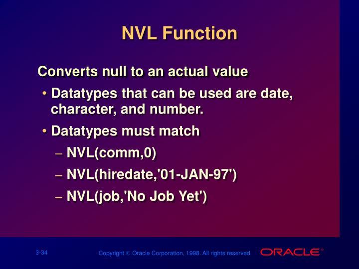 NVL Function