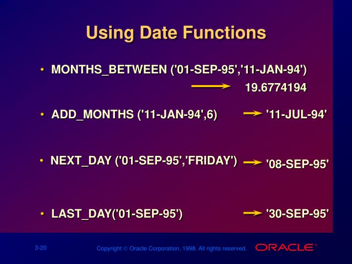 Using Date Functions